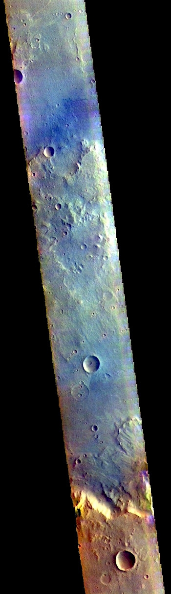 False-color slice across Mutch Crater (THEMIS_IOTD_20180927)