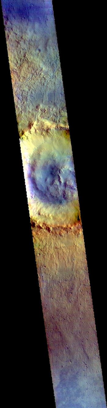 Bonestell Crater in Acidalia (THEMIS_IOTD_20181009)