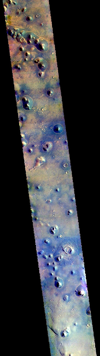 Isolated hills on Arcadia Planitia (THEMIS_IOTD_20181023)