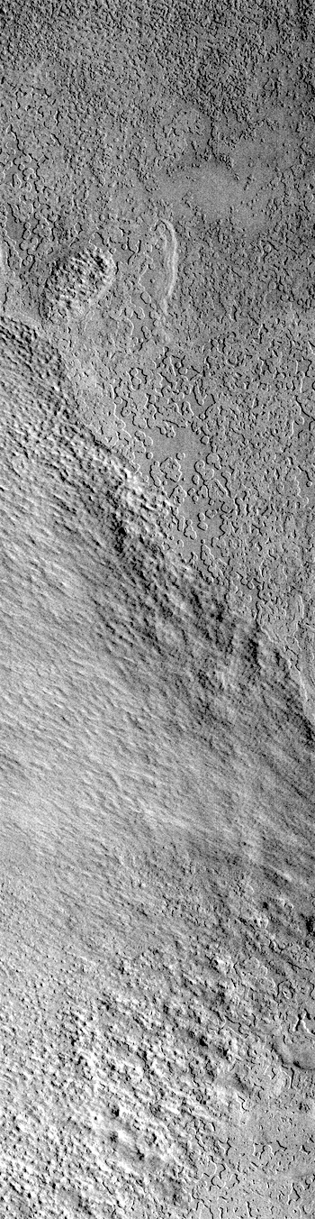 Swiss cheese texture on south polar cap (THEMIS_IOTD_20181031)