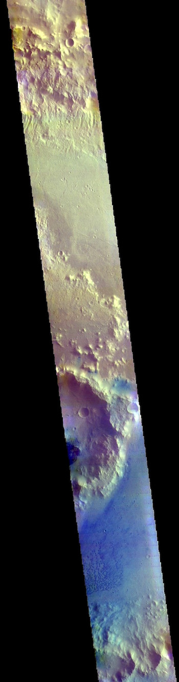 Trouvelot Crater in false color (THEMIS_IOTD_20181012)