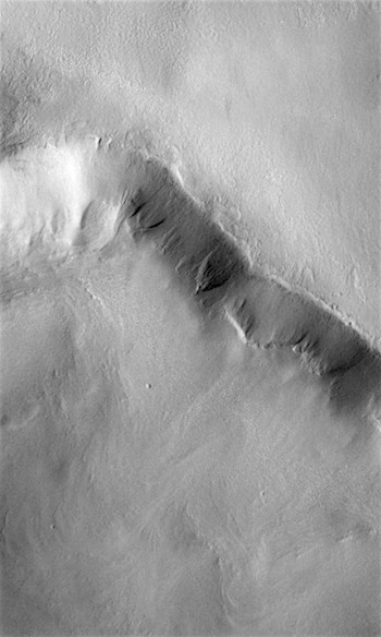 Gullies etch crater rim (THEMIS_IOTD_20181116)