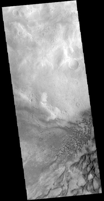 Little dunes and big dunes in Russell Crater (THEMIS_IOTD_20181114)