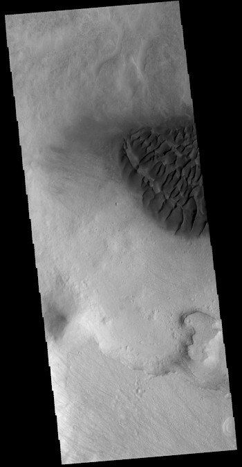 Sheet of dunes in Halley Crater (THEMIS_IOTD_20181224)