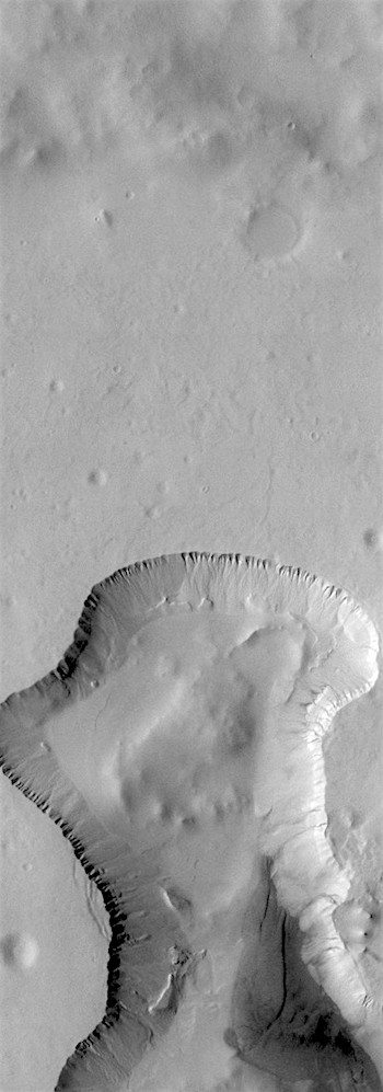 Eroding infill in southern crater (THEMIS_IOTD_20190115)