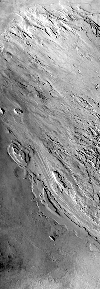 Eroding infill of Spallanzani Crater (THEMIS_IOTD_20190131)