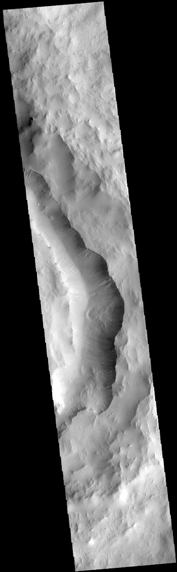 Maunder Crater gullies and slides (THEMIS_IOTD_20190108)