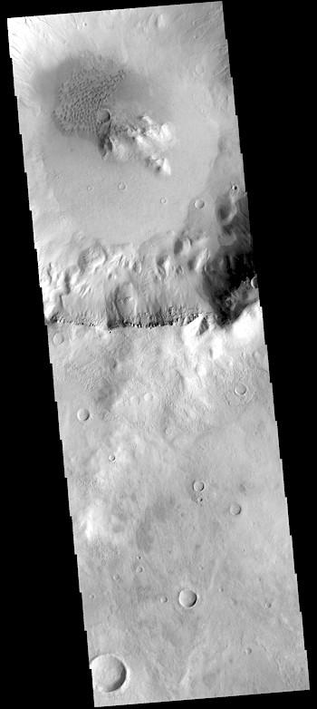 Patch of dunes in a Sirenum crater (THEMIS_IOTD_20190129)