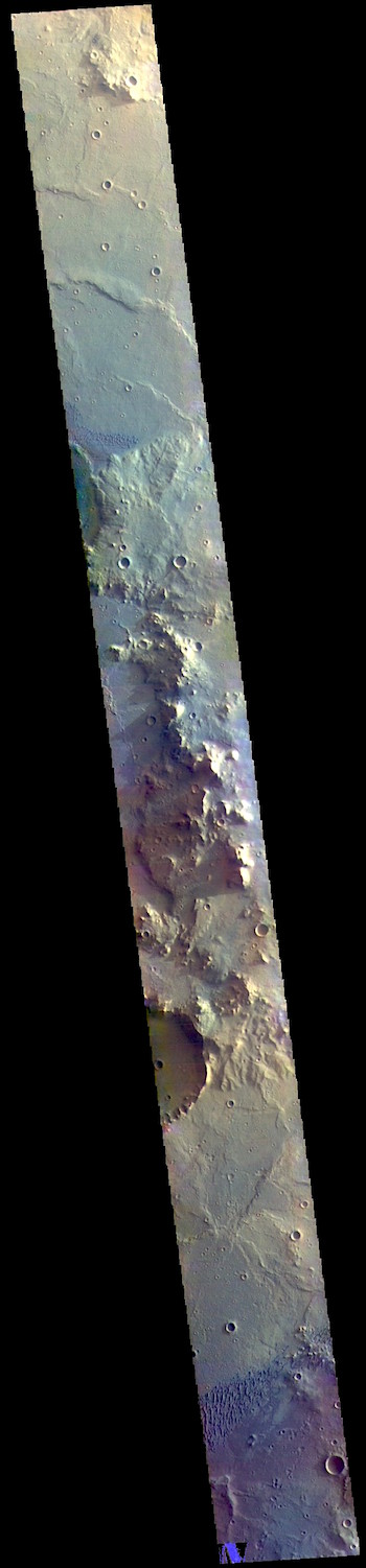 Herschel Crater in false color (THEMIS_IOTD_20190219)