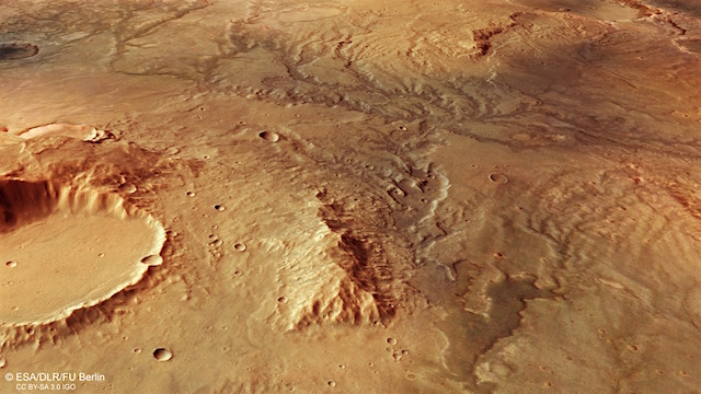 Perspective_view_of_ancient_river_valley_network_on_Mars