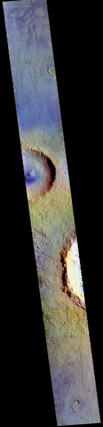 Acidalia Planitia in false color (THEMIS_IOTD_20190327)