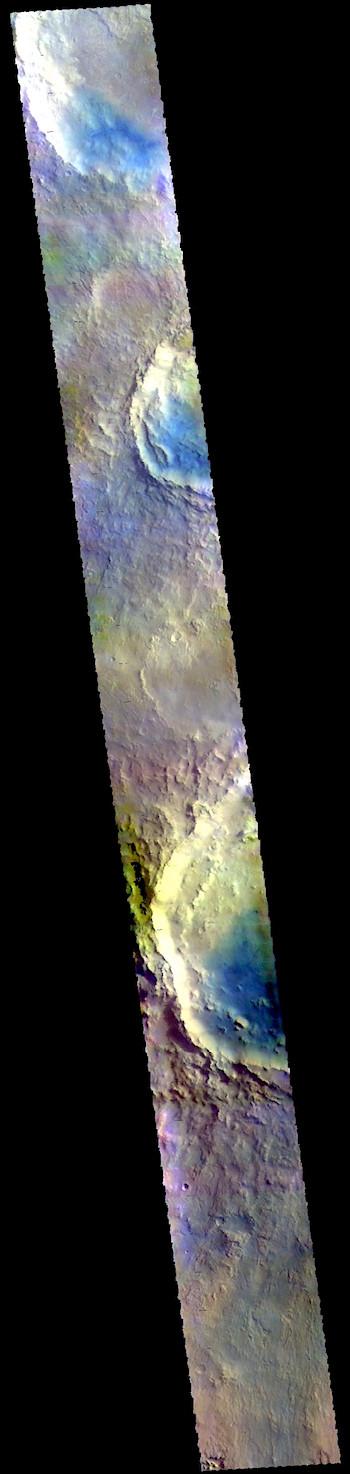 Impact craters in Arabia Terra (THEMIS_IOTD_20190329)