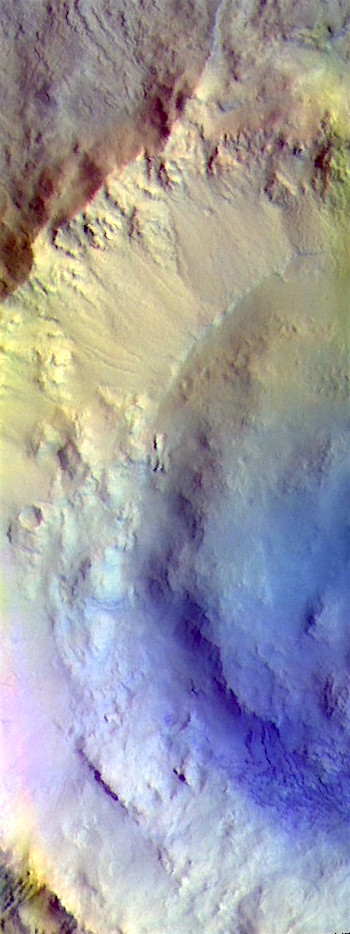 Bonestell Crater in false color (THEMIS_IOTD_20190419)