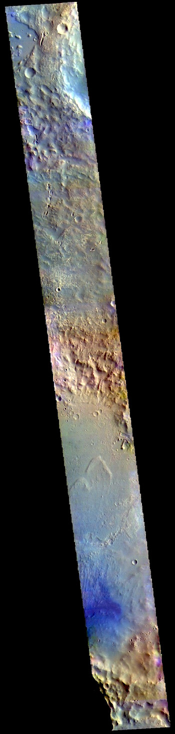 McLaughlin Crater in false color (THEMIS_IOTD_20190409)