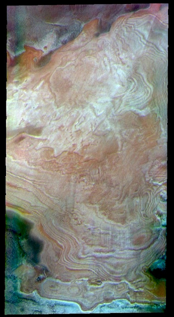 North polar layers in false color (THEMIS_IOTD_20190418)