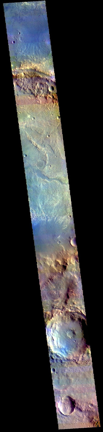 Oyama Crater in false color (THEMIS_IOTD_20190404)