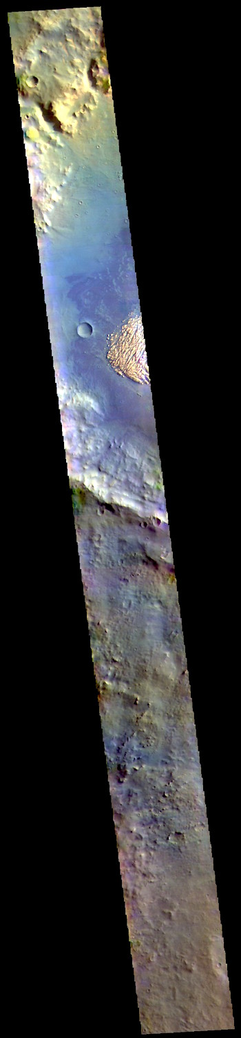 Pollack Crater in false color (THEMIS_IOTD_20190417)