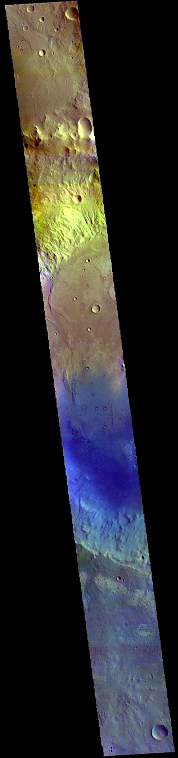 Rutherford Crater in false color (THEMIS_IOTD_20190401)