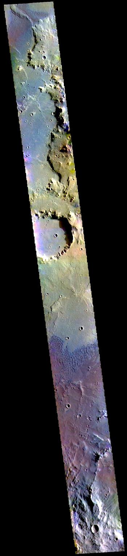Herschel Crater floor in false color (THEMIS_IOTD_20190529)