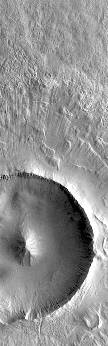 Radial crater ejecta in Utopia (THEMIS_IOTD_20190709)