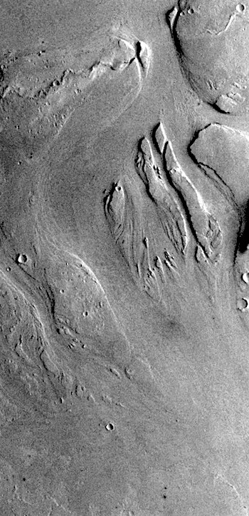 Streamlined islands in Athabasca Valles (THEMIS_IOTD_20190702)